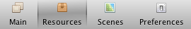 Resources Button in Toolbar