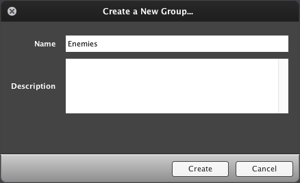 Create a New Group...