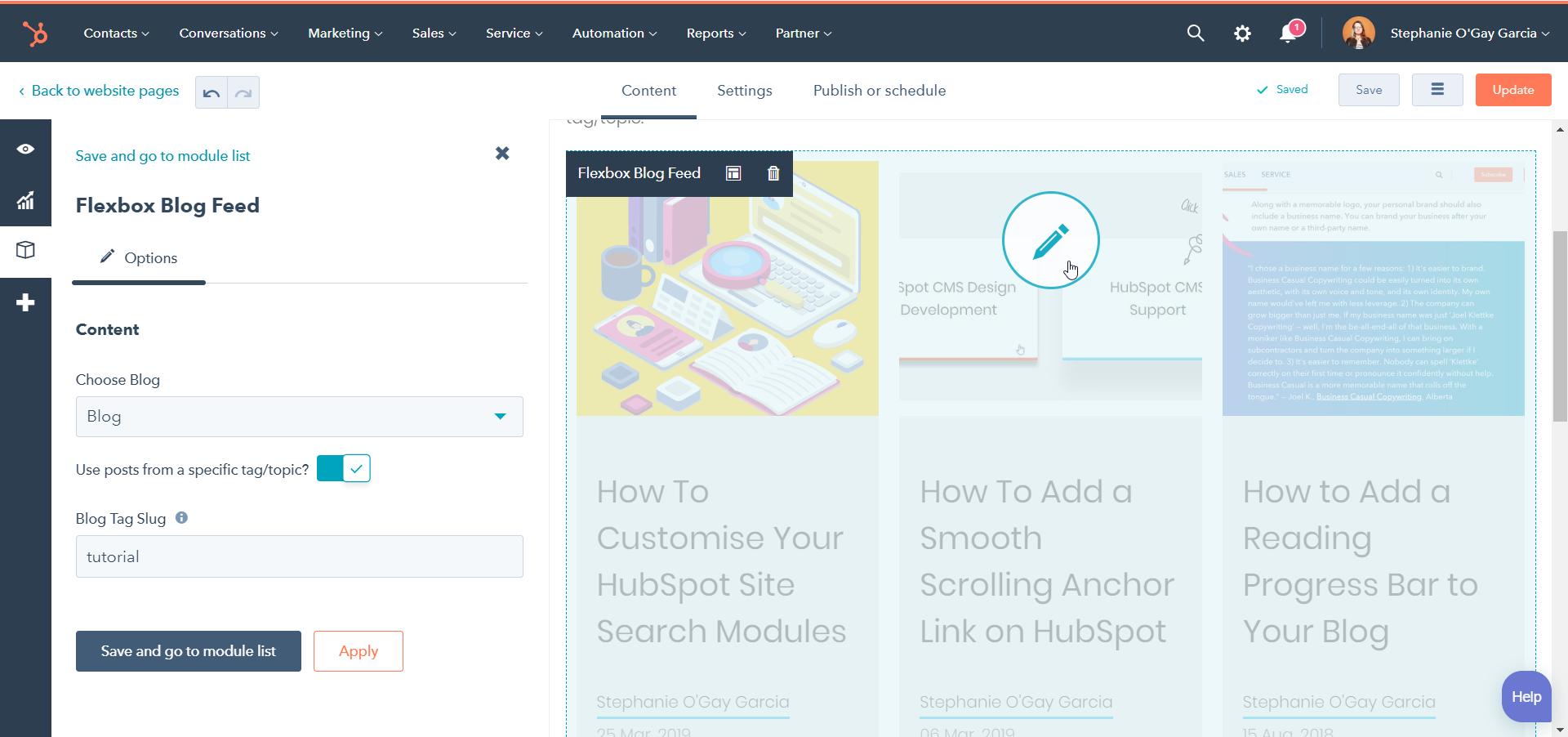 HubSpot | Flexbox Blog Feed