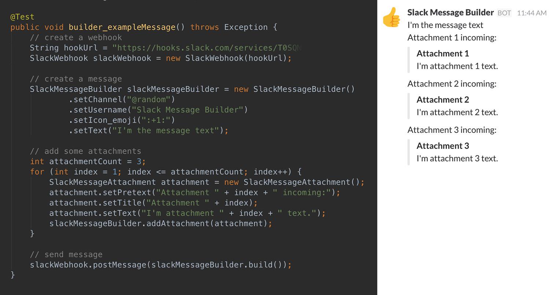 GitHub - Steppschuh/SlackMessageBuilder: Generate Slack