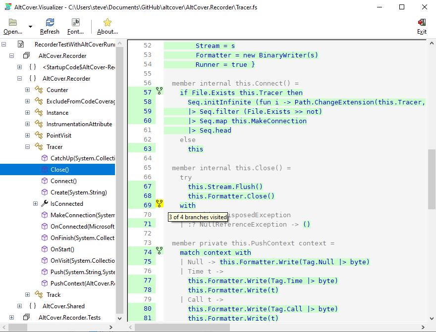 Visualizer screenshot