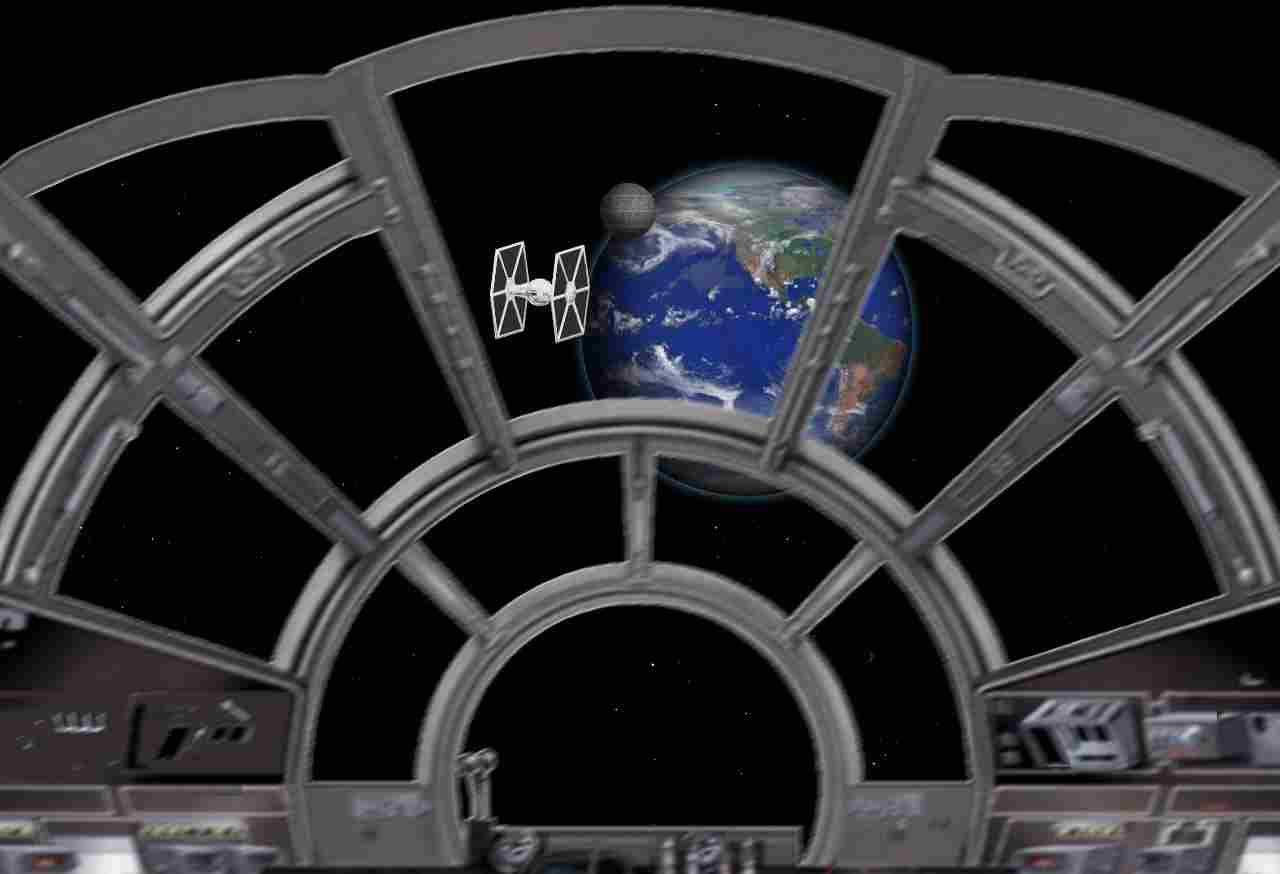 Github stevemcarthur death star css3 animation for Cockpit wall mural