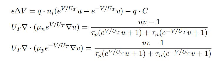 Drift-Diffusion-Poisson equations