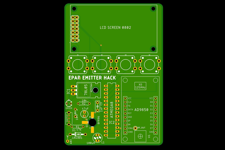 PCB pour un hack créé par Furrtek
