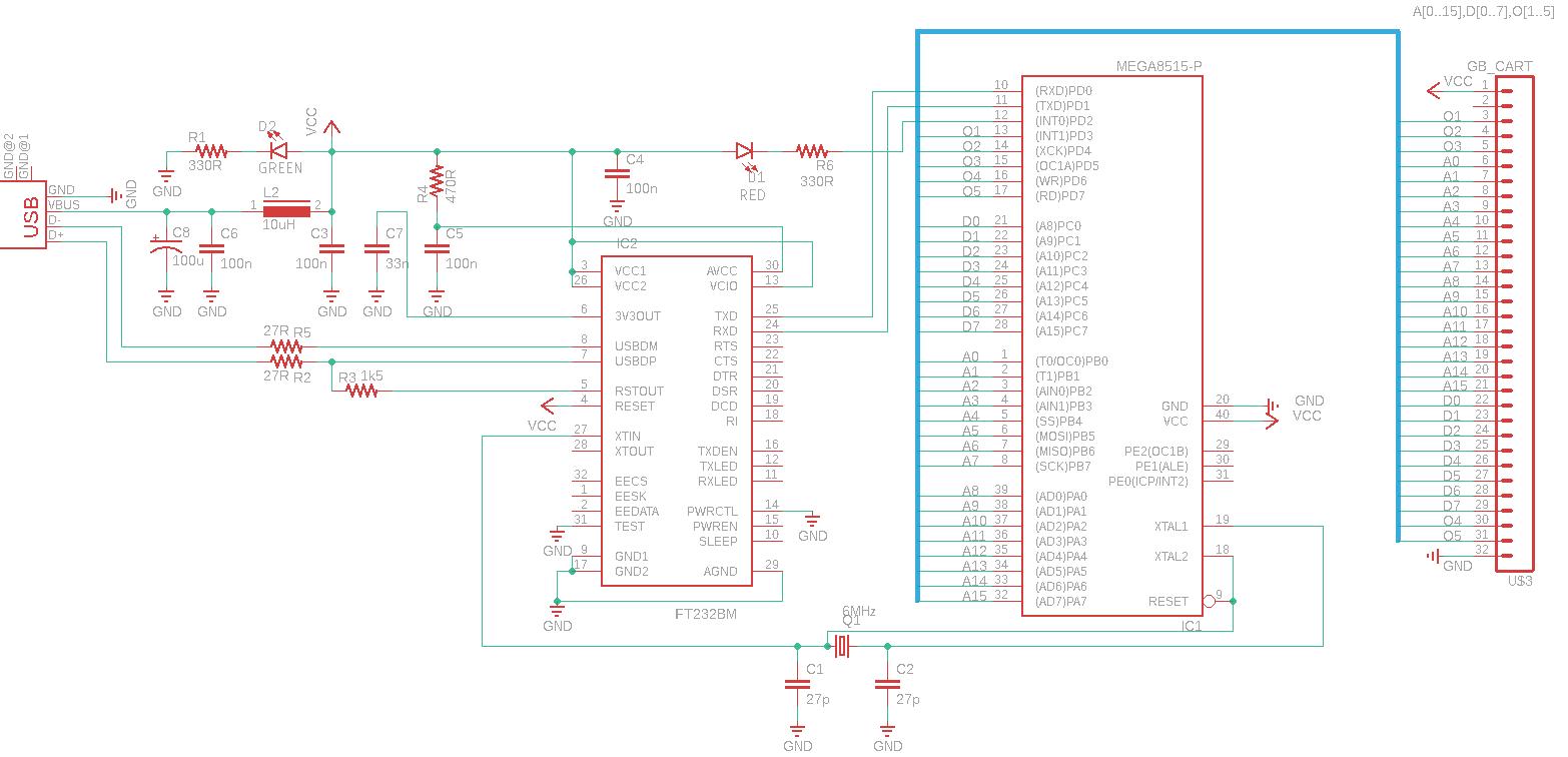 Schéma GB programmer
