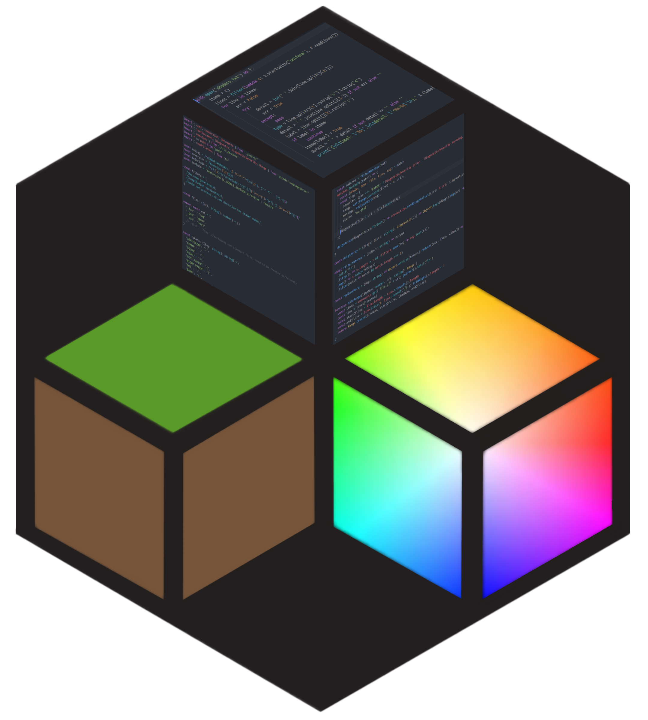 Logo for the VSCode Minecraft shader project
