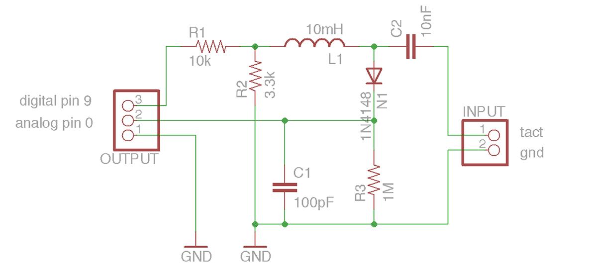 Basic Tact Sensor Circuit