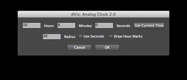 Analog Clock script GUI