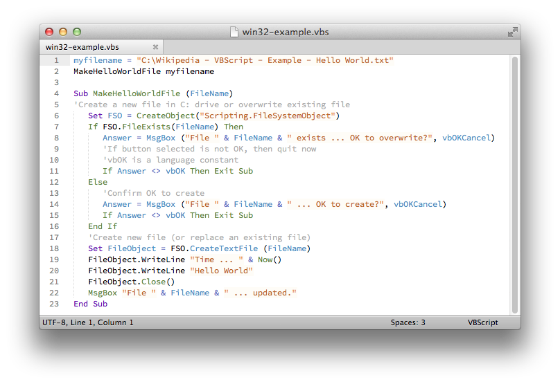GitHub - SublimeText/VBScript: VBScript package for Sublime Text
