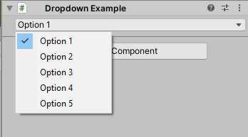 Image of a working dropdown