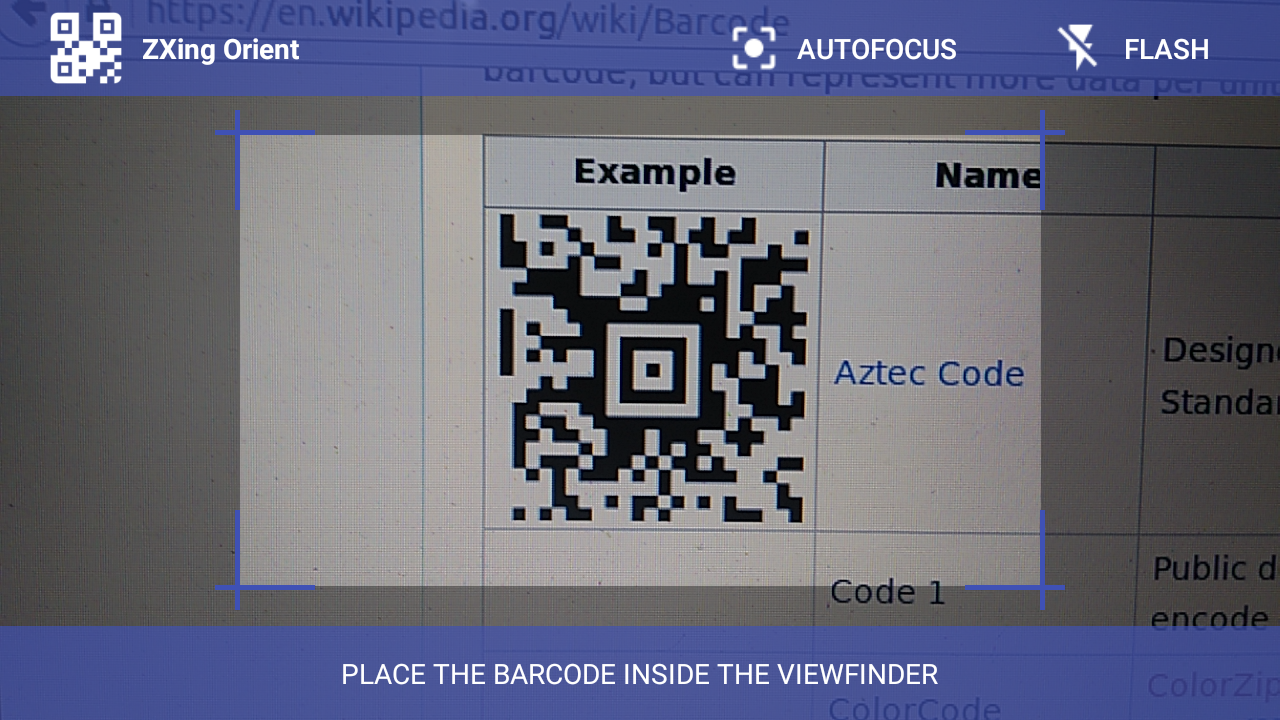 GitHub - SudarAbisheck/ZXing-Orient: An Barcode Scanner Library