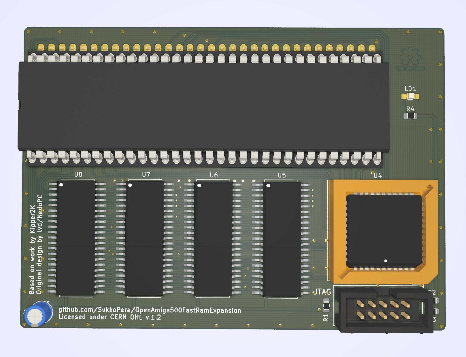 github sukkopera openamiga500fastramexpansion 4 8 mb fast  looking at an old amiga 500 pcb