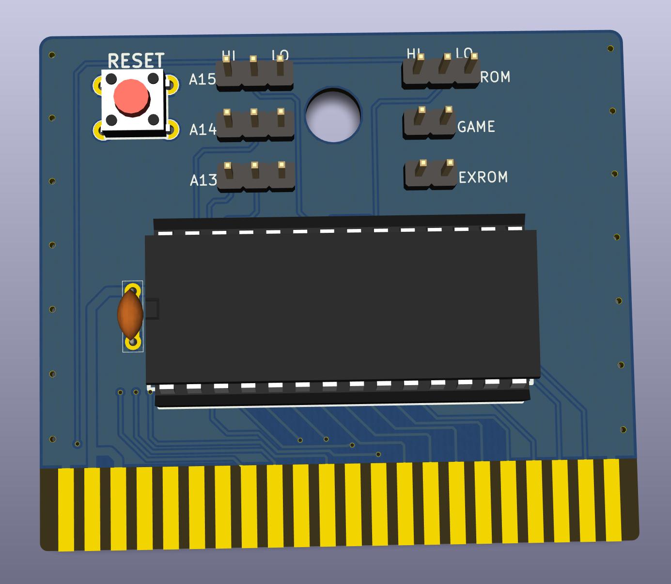 GitHub - SukkoPera/OpenC64Cart: Open Hardware 8Kb Cartridge