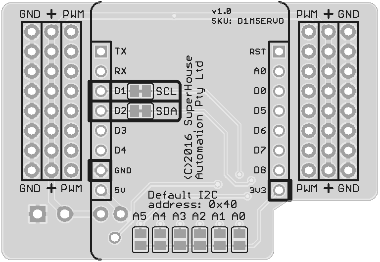 superhouse  d1mservo servo controller shield for the wemos d1 mini with esp8266 by  superhouse