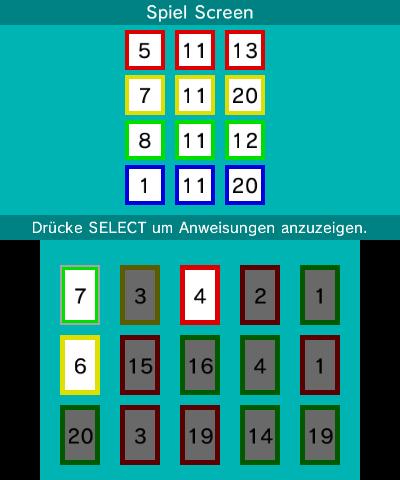 Spiel Screen