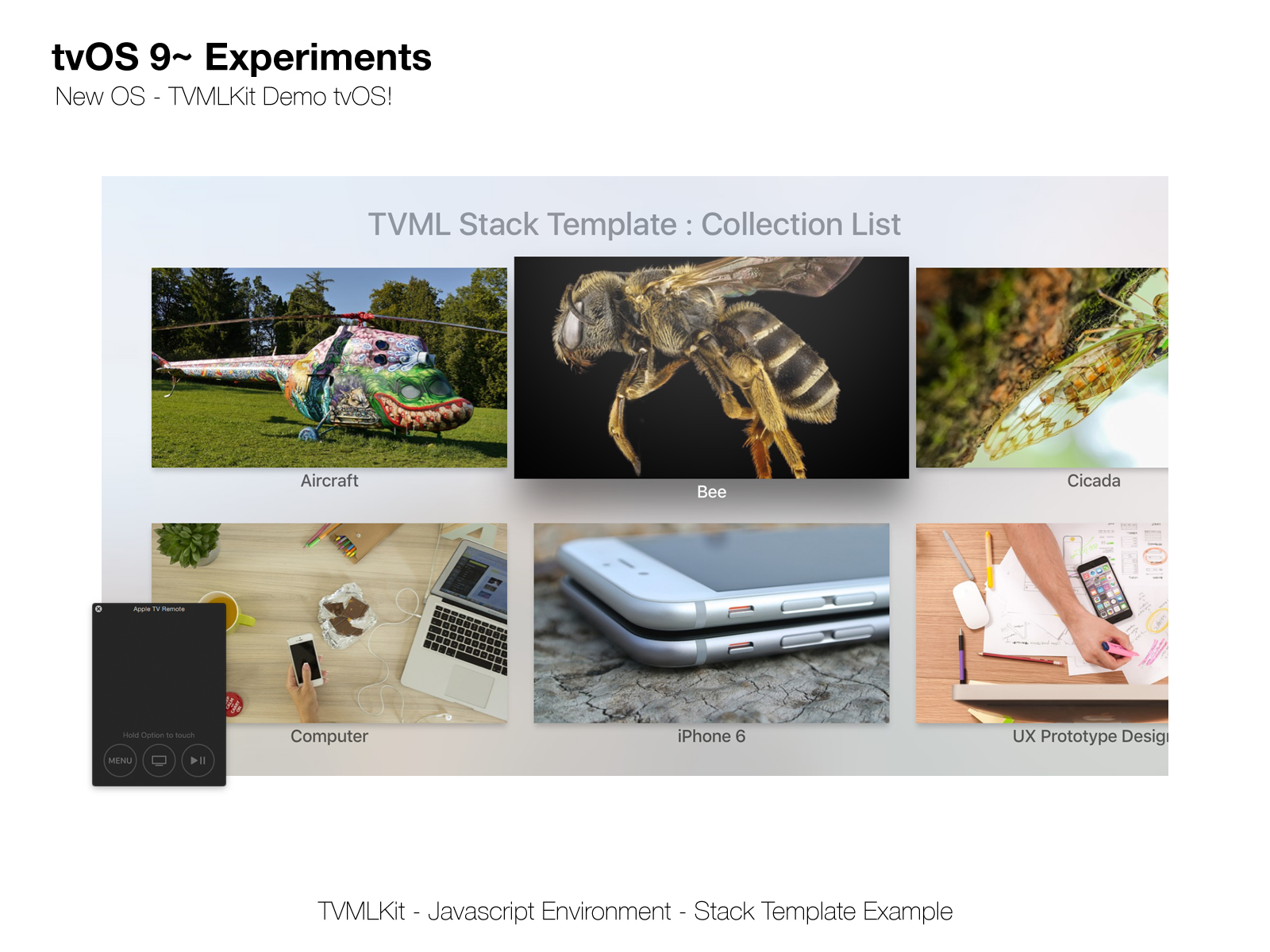 GitHub - Sweefties/tvOS9-TVMLKitDemo: tvOS 9 - Experiments