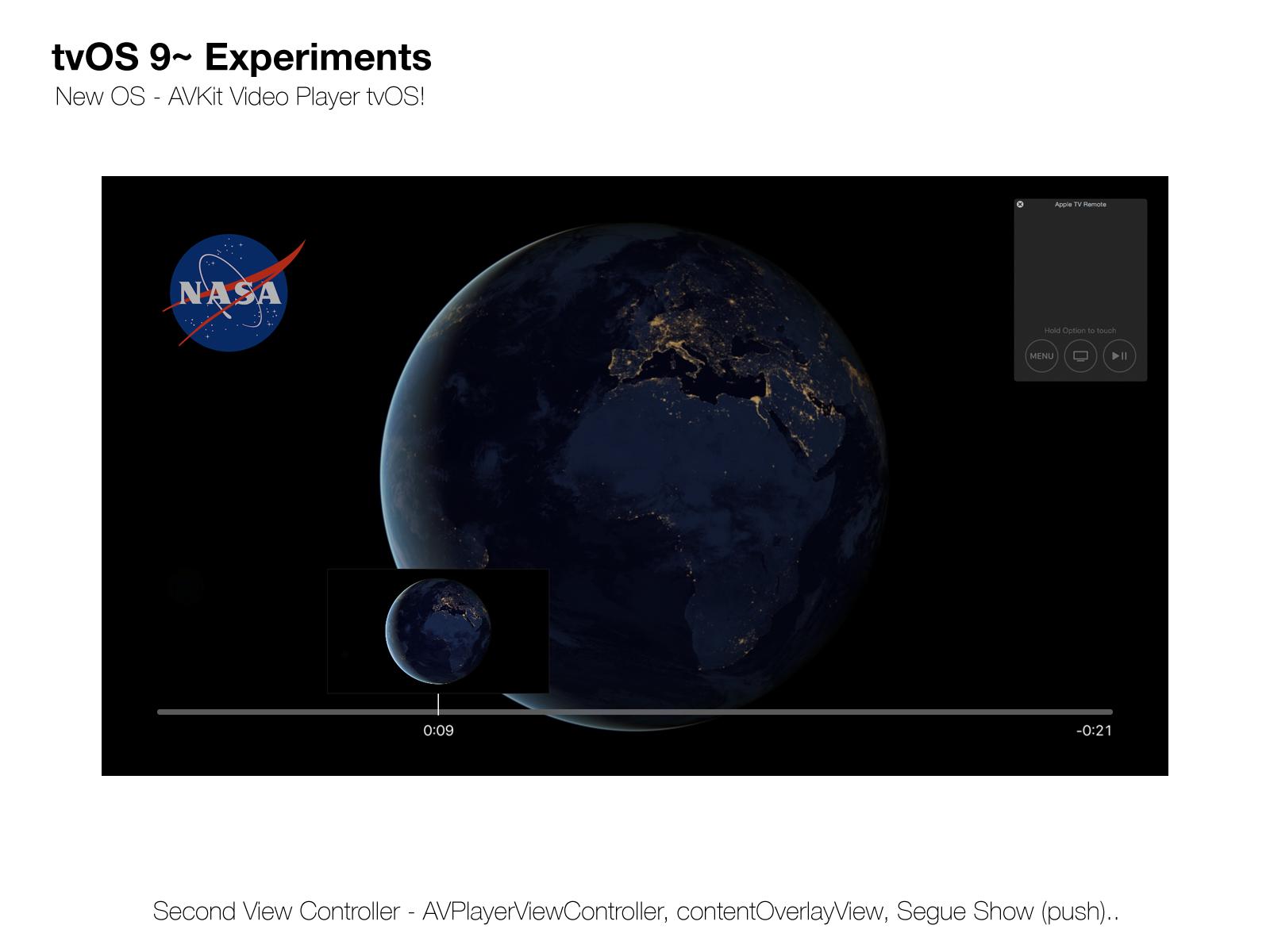 GitHub - Sweefties/tvOS9-VideoPlayer: tvOS 9~ Experiments