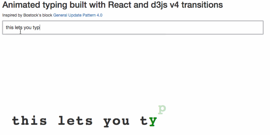 Typing animation screenshot