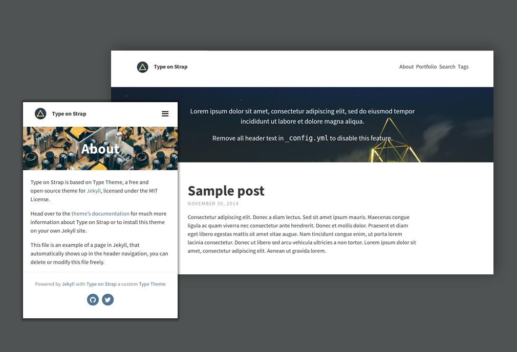Default Type on Strap blog