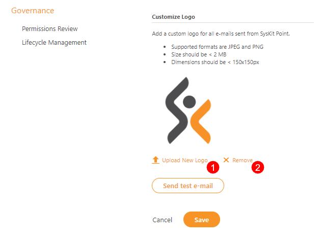 Customize Logo - Uploaded Logo
