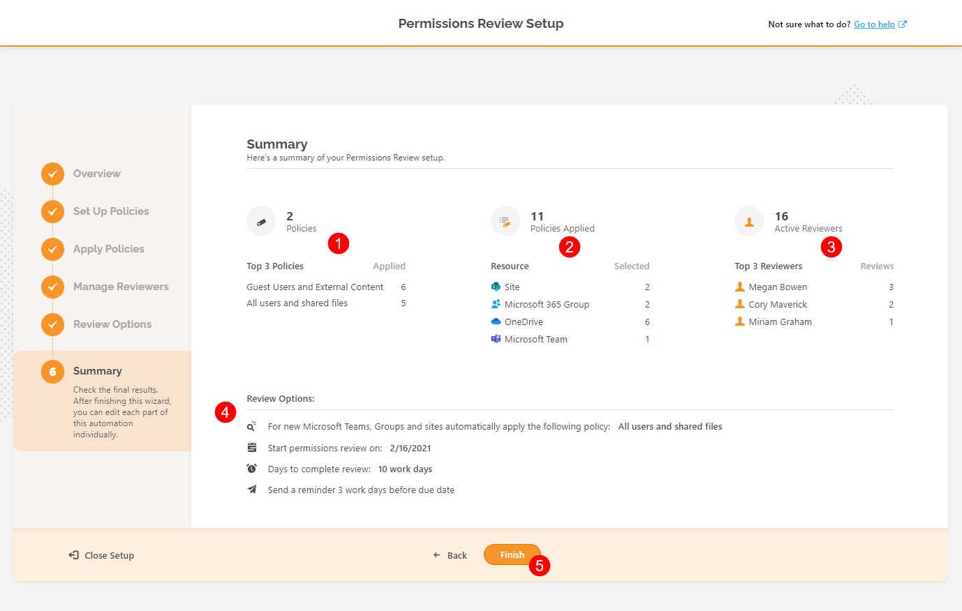 Automated Permissions Review Setup - Summary