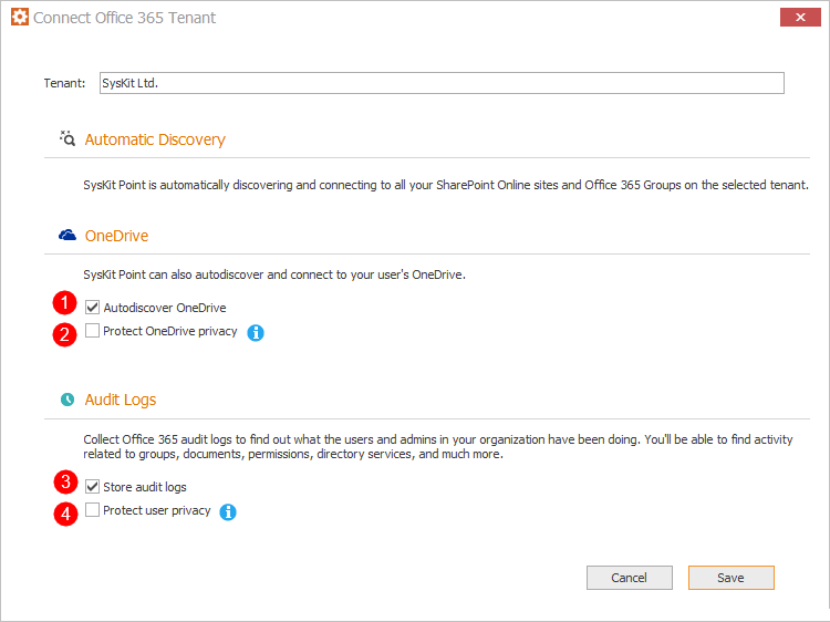OneDrive and audit logs configuration