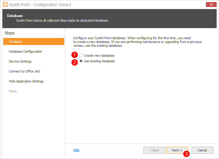 SysKit Point Configuration - Database