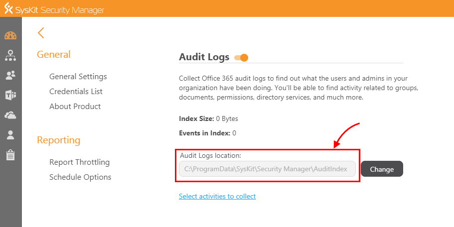 SysKit Security Manager - Audit logs location