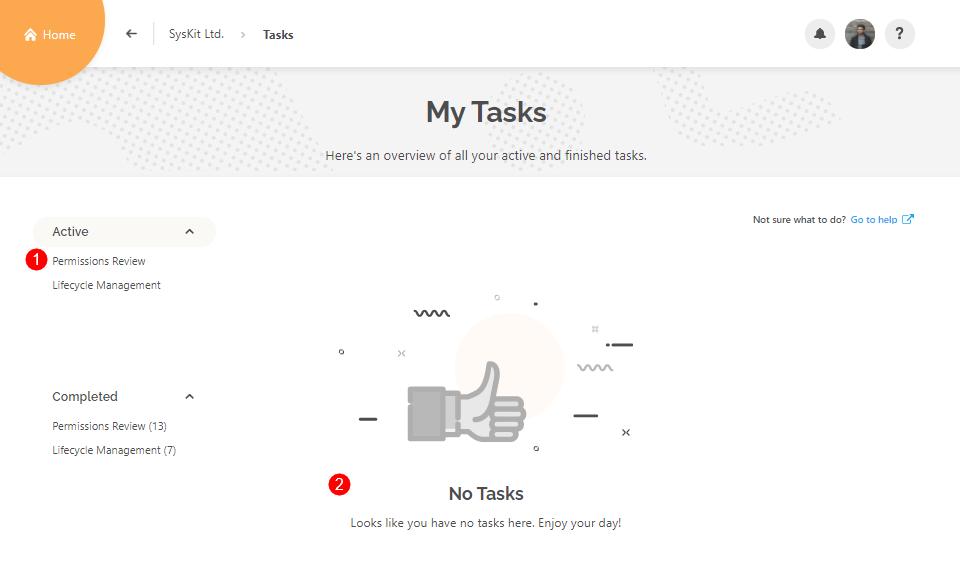 My Tasks - Active