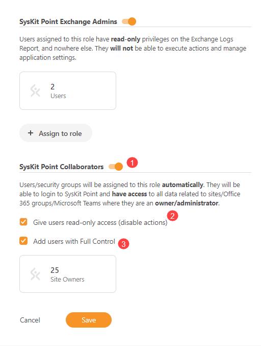 Settings - SysKit Point Collaborators