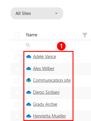 SysKit Point - Drill on the Sites screen