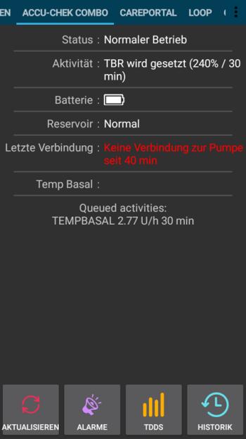 Pumpe nicht erreichbar