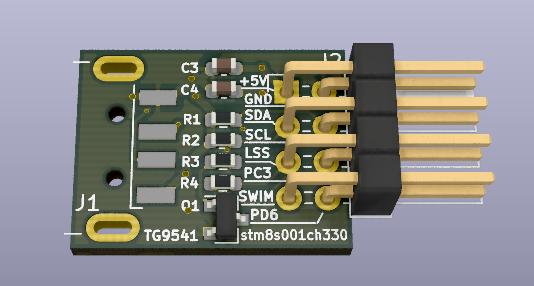 USB Dongle STM8S001J3M3 w/ CH330N