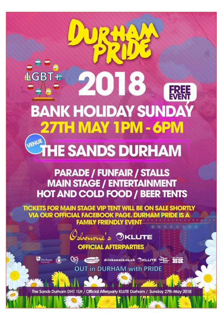 Everything You Need To Know About Durham Pride 2018