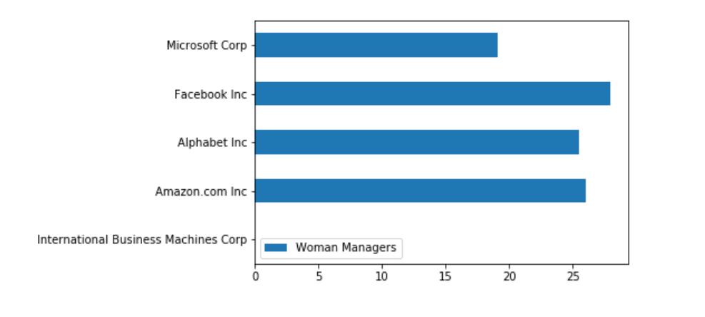 Woman Manager Barh Chart
