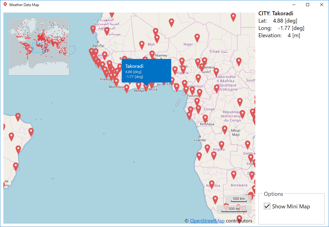 Weather Data Map Plugin
