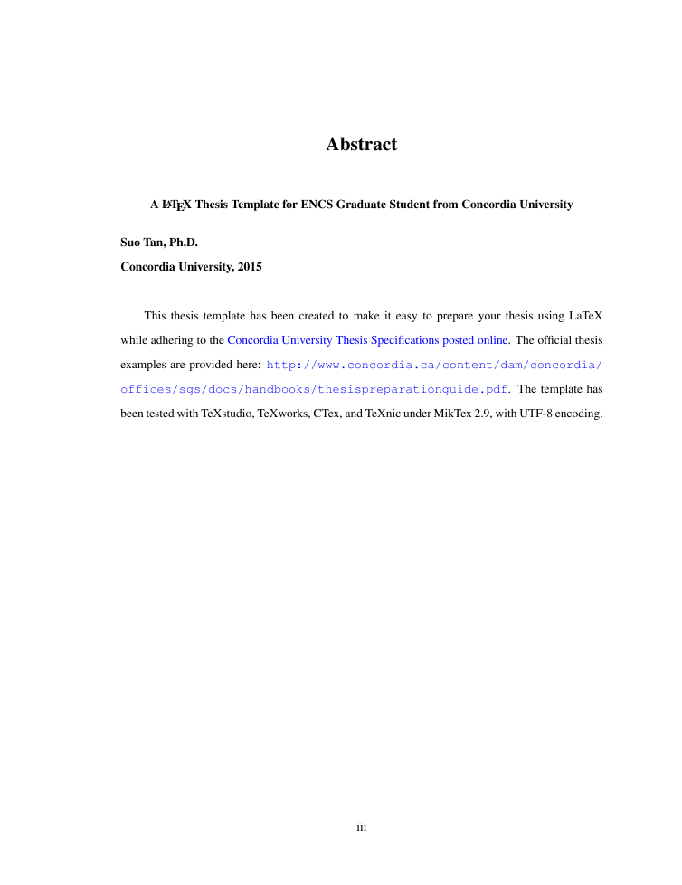 Abstract dissertation in mathematics