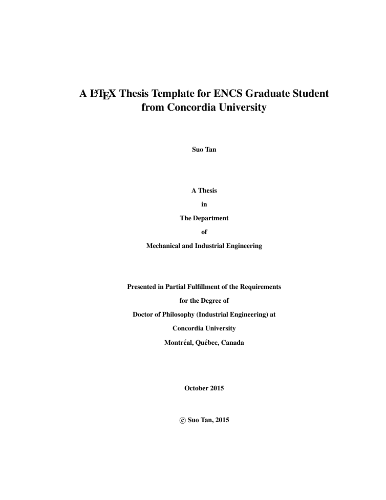 Latex thesis template for concordia university students by for Texmaker templates