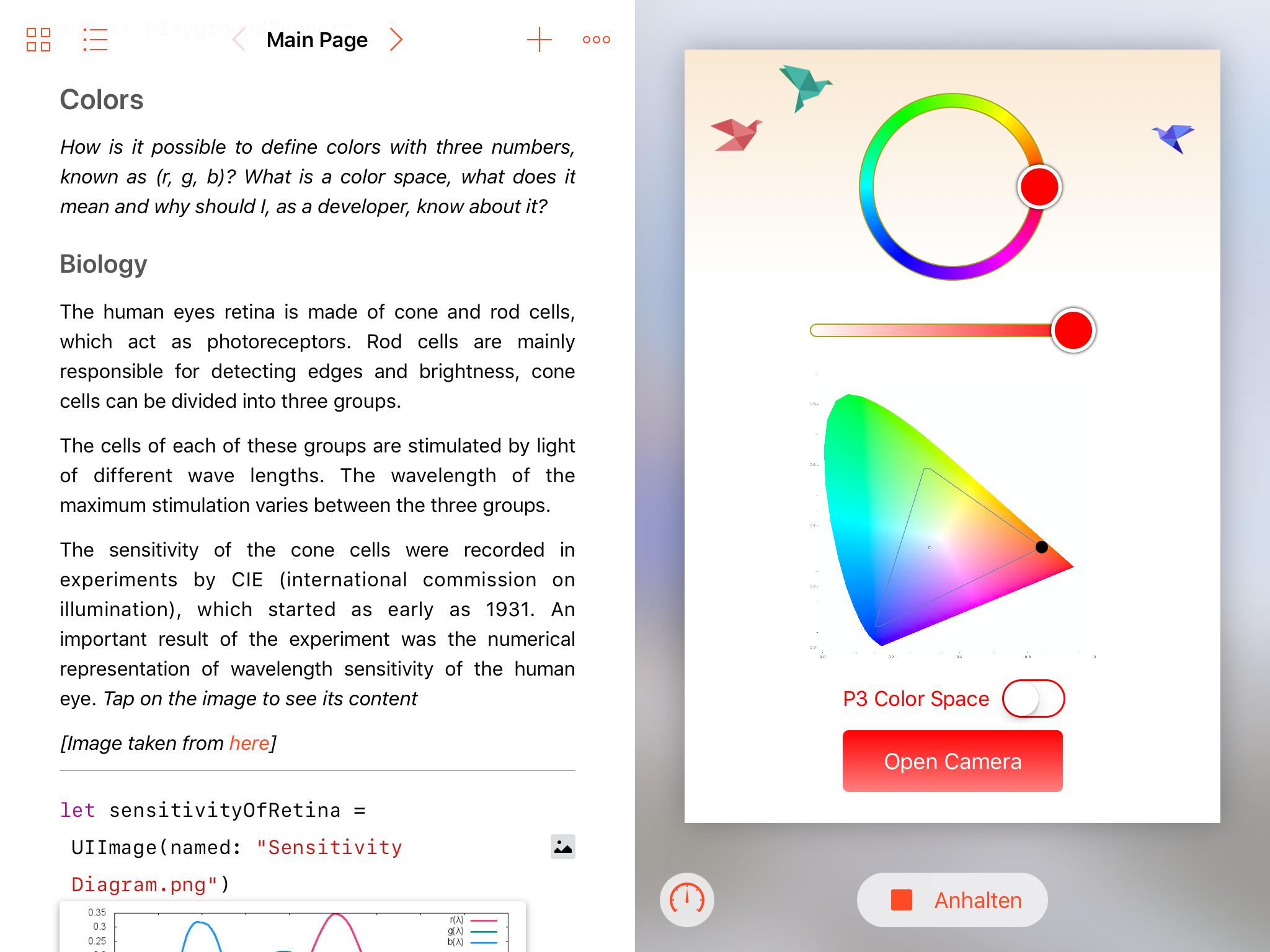 Screenshot of the app.