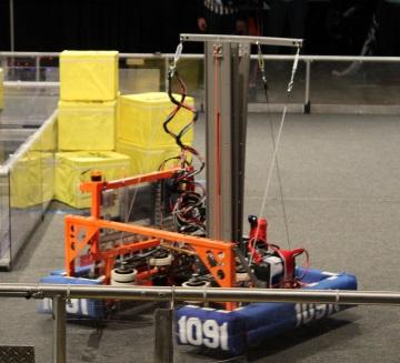 Robot during 2017 robo-lympics