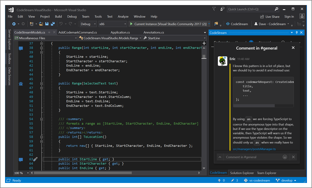 CodeStream for Visual Studio