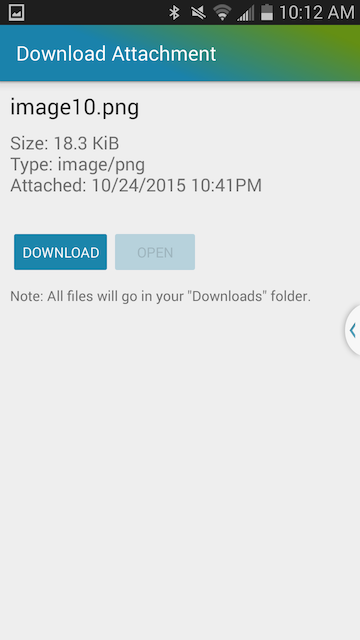 Download android calendar event attachment from Team Calendar Sync