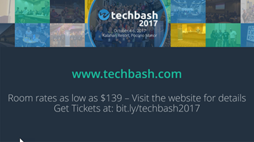 TechBash 2017 Slide - Dark Theme