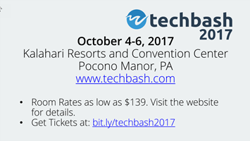 TechBash 2017 Slide - Light Theme