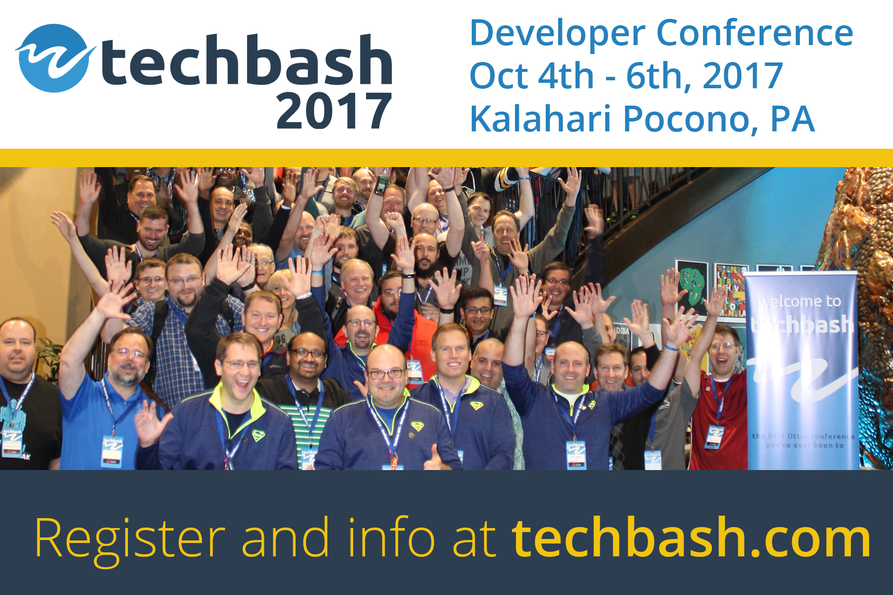 Register for Techbash 2017 developer conference at techbash.com
