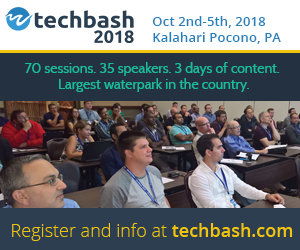 TechBash 2018 - October 2-5, 2018