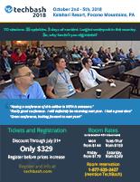 Techbash 2018 event flyer version 2