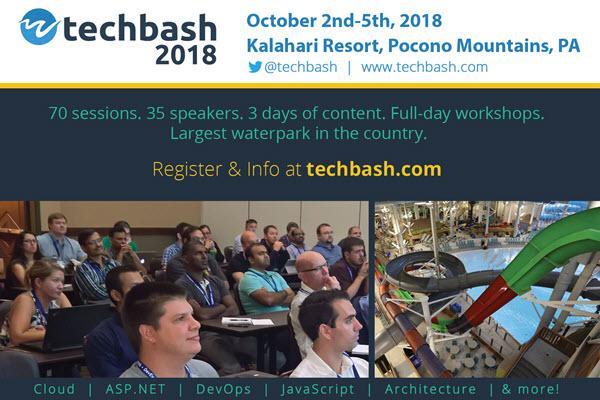Techbash 2018 Postcard