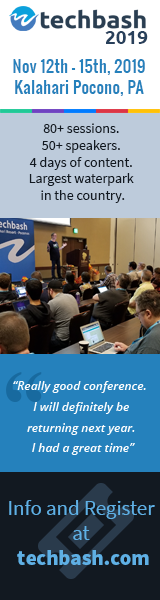 Register for Techbash 2019 developer conference at techbash.com