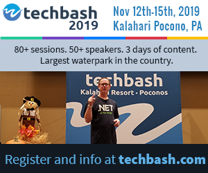 See the sessions for Techbash 2019 developer conference at techbash.com